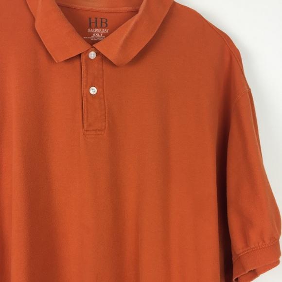 e5eddcbc Harbor Bay Other - Harbor Bay // 5XLT mens orange short sleeve polo